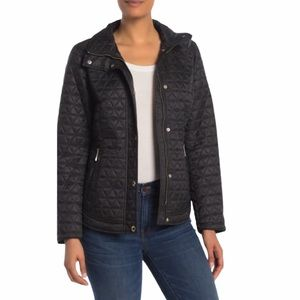Michael Kors Missy Quilted Short Barn Jacket